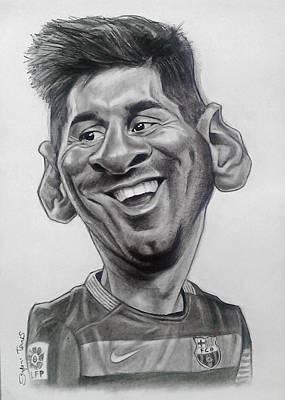 Leo Messi Caricature Original by Szepesi Tamas