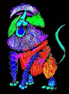 Leo, Rampant -- Negative Version Art Print