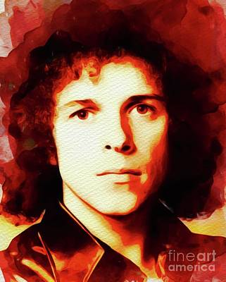 Music Paintings - Leo Sayer, Music Legend by Esoterica Art Agency