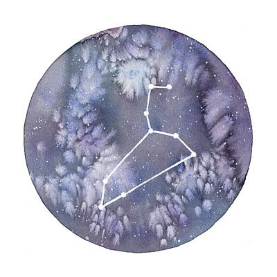 Constellation Painting - Leo by Stephie Jones