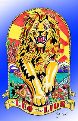 Drawing - Leo The Lion by John Keaton