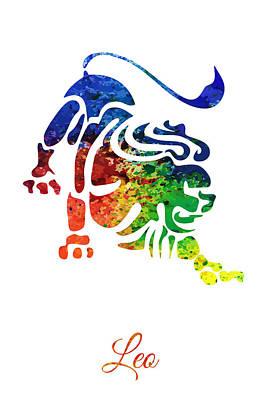 Digital Art - Leo The Lion Star Sign by PixBreak Art