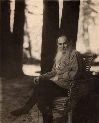 Leo Tolstoy 1828-1910 Russian Novelist Art Print by Everett