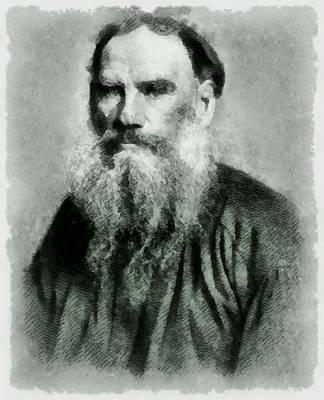 Leo Tolstoy Author Art Print by John Springfield