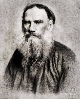 Leo Painting - Leo Tolstoy, Literary Legend by John Springfield