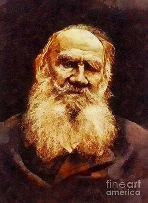 War And Peace Painting - Leo Tolstoy, Literary Legend by Sarah Kirk