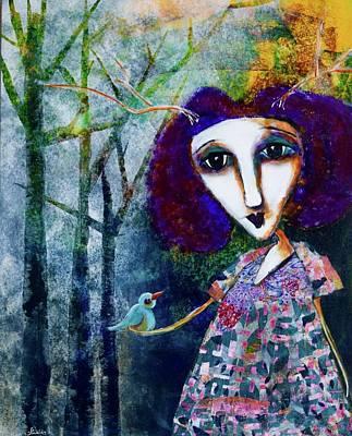 Wall Art - Mixed Media - Leola by Jen Walls