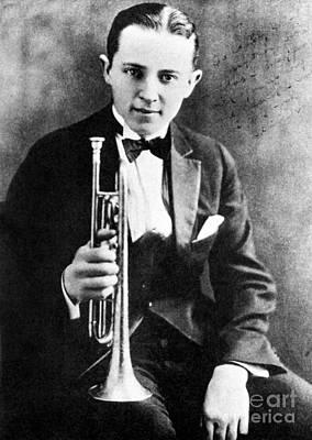 Trumpet Photograph - (leon) Bix Beiderbecke by Granger