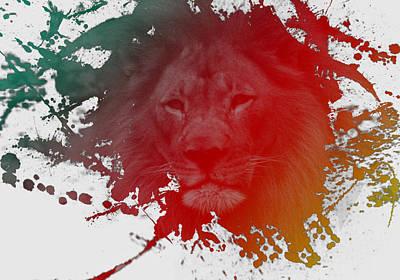 Digital Art - Rasta King  by L L