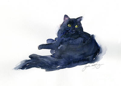Watercolor Pet Portraits Wall Art - Painting - Leon Portrait by John Keeling
