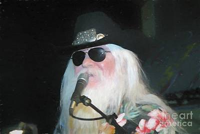 Painting - Leon Russell Painting by Concert Photos