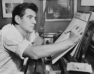Leonard Bernstein 1918-1990, Seated Print by Everett