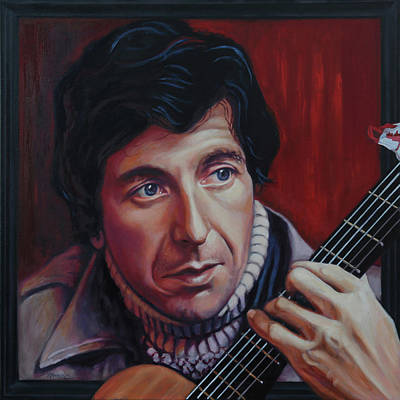 Painting - Leonard Cohen - Canadian Legend by Maria Modopoulos