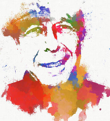Painting - Leonard Cohen by Dan Sproul