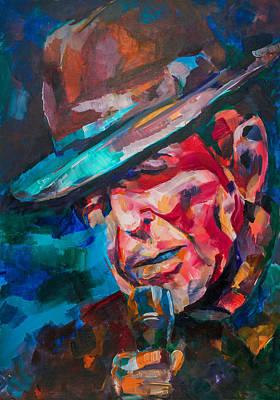 Leonard Cohen Painting - Leonard Cohen by Dima Mogilevsky