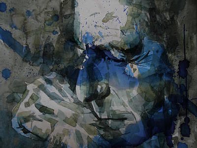 Canada Wall Art - Painting - Leonard Cohen - It Goes Like This The Fourth The Fifth by Paul Lovering