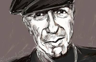 Painting - Leonard Cohen  by Jim Vance