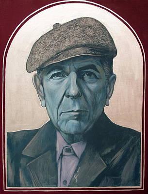 Painting - Leonard Cohen by Jovana Kolic