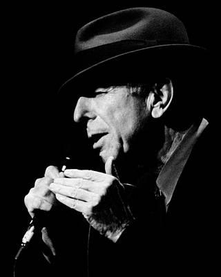 B Photograph - Leonard Cohen by Mathieu L'Heureux Roy