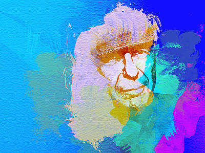 American Rock Star Painting - Leonard Cohen by Naxart Studio