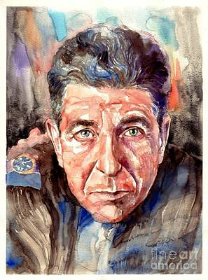Beacon Wall Art - Painting - Leonard Cohen Painting by Suzann's Art