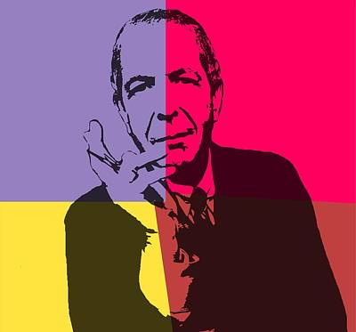 Author Mixed Media - Leonard Cohen Pop Art Panels by Dan Sproul