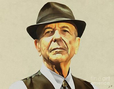 Leonard Cohen Art Print by Sergey Lukashin