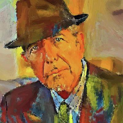 Leonard Digital Art - Leonard Cohen Tribute 1 by Yury Malkov