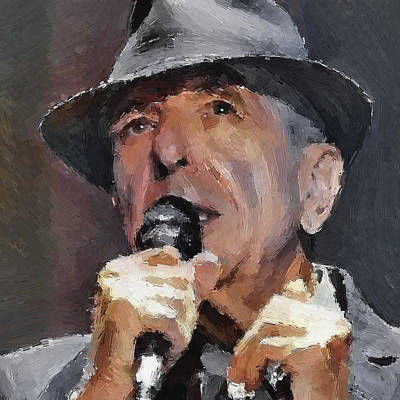 Excellent Digital Art - Leonard Cohen Tribute 2 by Yury Malkov