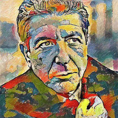 Concert Digital Art - Leonard Cohen Tribute 3 by Yury Malkov