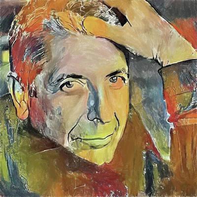 Leonard Digital Art - Leonard Cohen Tribute 6 by Yury Malkov