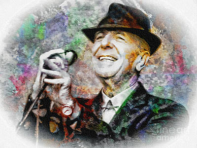 Painting - Leonard Cohen - Tribute Painting by Ian Gledhill