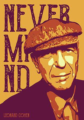 Leonard Digital Art - Leonard Cohen by Greatom London