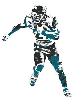 Mixed Media - Leonard Fournette Jacksonville Jaguars Pixel Art 10 by Joe Hamilton