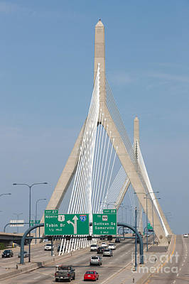 Photograph - Leonard P. Zakim Bunker Hill Bridge I by Clarence Holmes