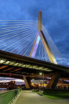 Photograph - Leonard P. Zakim Bunker Hill Memorial Bridge by Betty Denise