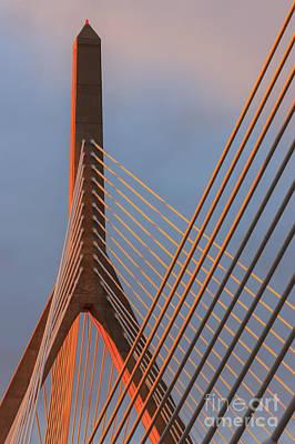 Leonard P. Zakim Bunker Hill Memorial Bridge, Boston Art Print by Henk Meijer Photography