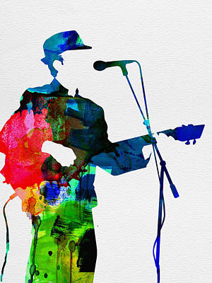 Jazz Digital Art - Leonard Watercolor by Naxart Studio
