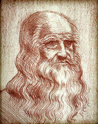 Drawing - Leonardo Da Vinci By George Wood by Karen Adams