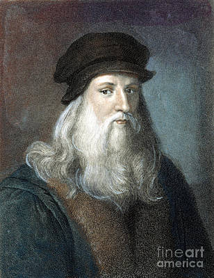 Photograph - Leonardo Da Vinci - To License For Professional Use Visit Granger.com by Granger
