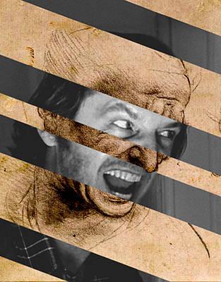 Leonardo Da Vinci Head For The Battle Of Anghiari And Jack Nicholson In Shining Original by Luigi Tarini