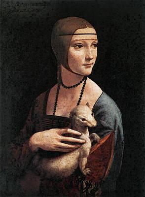 Leonardo Da Vinci Portrait Of Cecilia Gallerani Art Print