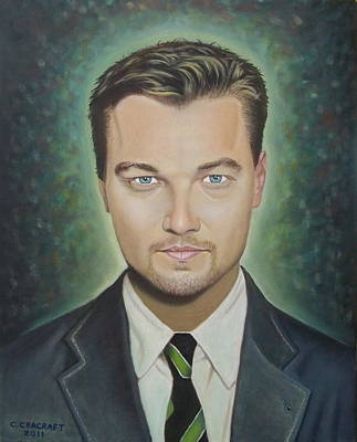 Celine Dion Painting - Leonardo Dicaprio by Crilll Cracraft