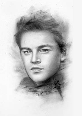 Romeo And Juliet Drawing - Leonardo Dicaprio by Michael George Escolano