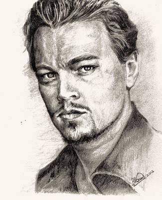 Leonardo Dicaprio Portrait Nr.2 Art Print