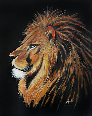 King Cat Painting - Leonardo Lion by Adele Moscaritolo