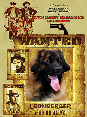 Leonberger Art Canvas Print - Butch Cassidy And The Sundance Kid Movie Poster Art Print