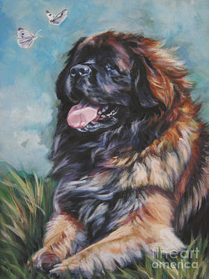 Painting - Leonberger Art Print by Lee Ann Shepard