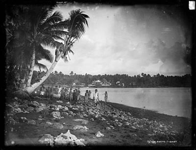 Painting - Leoni, Tutuila, Samoa, Photographed In Tutuila, Samoa, Published By Kerry And Company, Sydney, New by Artistic Panda