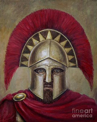 Painting - Leonidas I by Arturas Slapsys